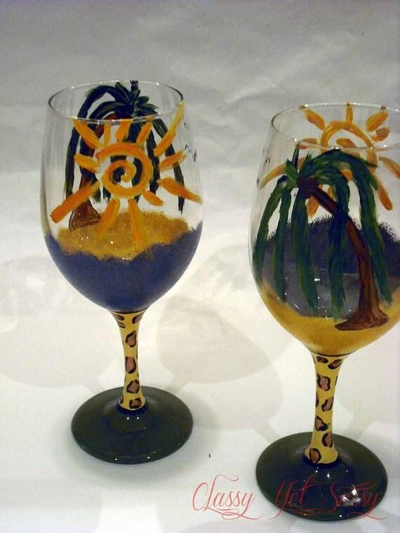 Beach Bum Beach Wineglass