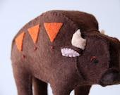 brave buffalo - embellished felt miniature