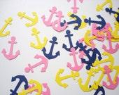 100 Nautical Anchors punch die cut confetti scrapbook embellishments - No333