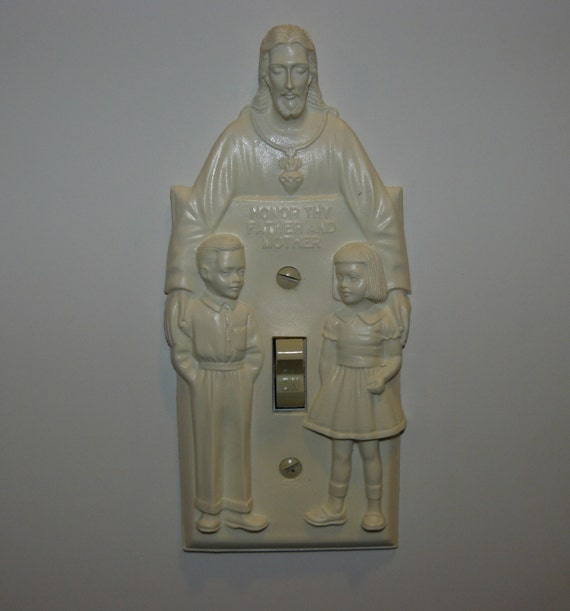Reproduction Vintage Turn On Jesus Light Switch Plate Hartland