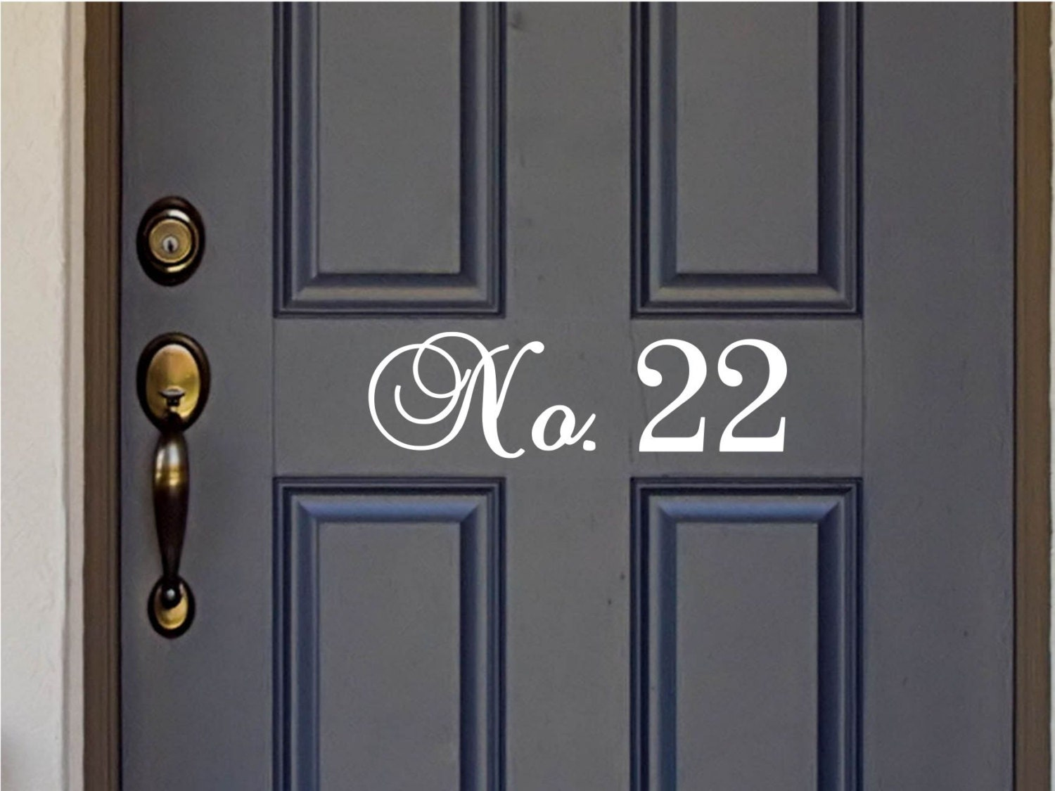 Custom House Number Vinyl Door Decal Front Door Decals Home - Custom vinyl decals numbers