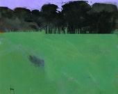 Semi-abstract landscape original painting - Dark grove