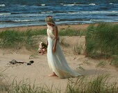 Cream tulle and lace strapless bridal gown, maternity wedding dress- made by your measurments