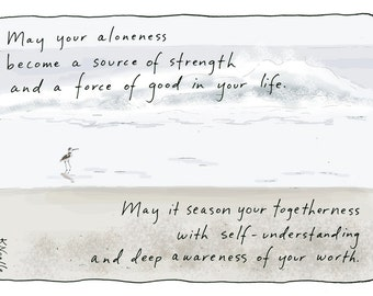 Blessing Series Greeting Card: Aloneness