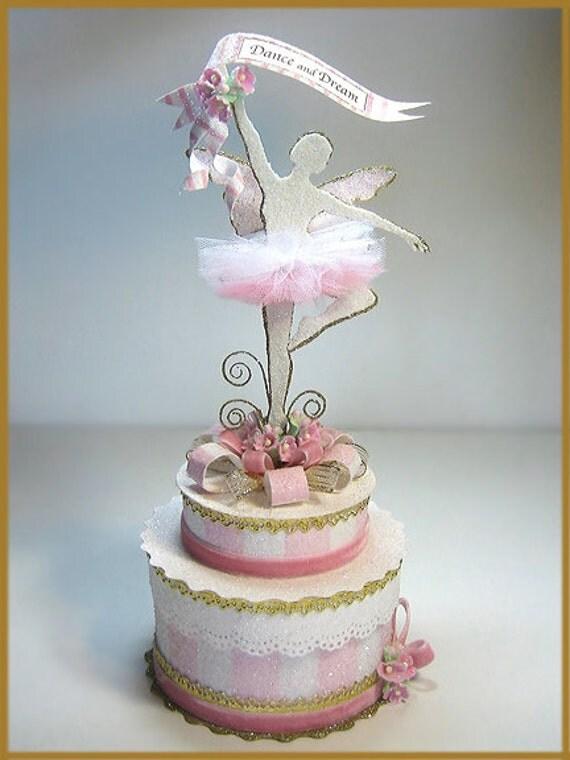 Sugar Plum Fairy Ballerina Cake Topper Ballerina