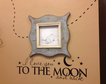 I love you to the moon and back decal wall sticker BC224