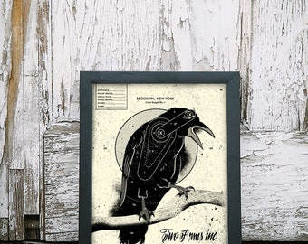 Crow Target - 11 x 14 Handpulled Screenprint