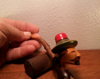 Vintage Italian Carved Tobacco Pipe
