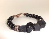 Protection Bracelet, Black Tourmaline Bracelet, Grounding Bracelet, Black Bracelet, Healing Bracelet, Yoga Bracelet, REIKI Energy Infused
