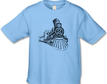 2nd Birthday Shirt - Vintage Feel Train Tshirt -  2 Train Birthday Party - Personalized Train - Train Birthday  Shirts - Choose your number