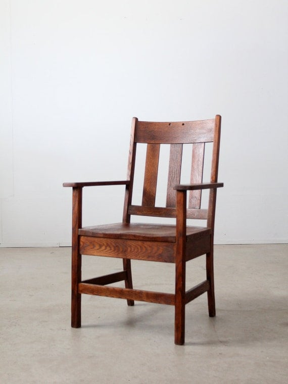 antique mission chair arts crafts wood chair
