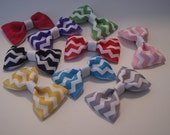 SET of 10 CHEVRON 2.5 inch Bow Tie Hair Bows