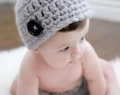 Gray Beanie Hat (fits newborn to adult)