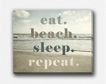 Decor Canvas Wrap, Beach Gallery Wrap Canvas, Beach Quote, Beach Wall ...