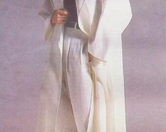 80s Anne Klein Womens Swing Coat, Shorts, Pants & Top Vogue Sewing Pattern 1706 Size 14 Bust 36 Vintage Vogue American Designer