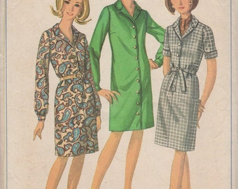 Bust 35-1966 Misses' Dress Simplicity 6700 Sz 14 1/2