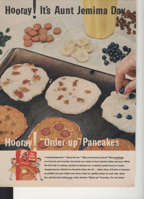 Https Etsy Com Listing 200877606 1962 Aunt Jemima Order Up Pancakes