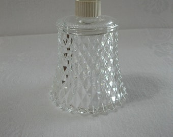 Home Interiors Vintage Clear Glass Diamond Cut Candle Cup for a Candle Holder