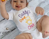Baby Girl Clothes Embroidered  with Daddy's Other Chick  Embroidered Newborn Girl Take Home Outfit New Baby Gift