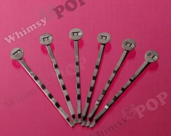100 PACK - 52mm Gunmetal Black Bobby Pins, Bobby Pin Blanks and Findings, Black Bobbie Pins, 52mm wide, 8mm Glue Pad (R2-156,C1-14)