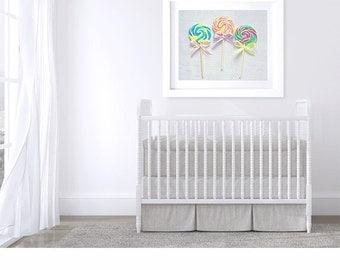 Lollipop photo, lollipop print, nursery art candy photography, pastel, nursery wall decor children's art kitchen art, lavender, dreamy, kids