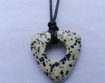 Nursing Necklace - Dalmatian Jasper Triangle Pendant