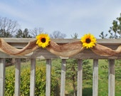 Sunflower Wedding Decor, Burlap Garland,  Bridal Shower Decor
