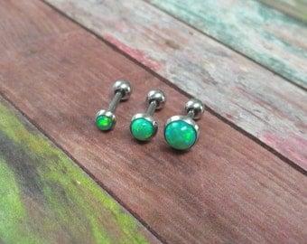 Opal Cartilage Earring Tragus Helix Piercing