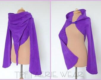 Plain Fleece 'Korrigan' Shrug -Positively Pixie hood/Sidhe sleeves