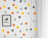 Removable Wall Polka Dots - Vinyl Wall Decal Stickers -  Set of 28 vinyl circles