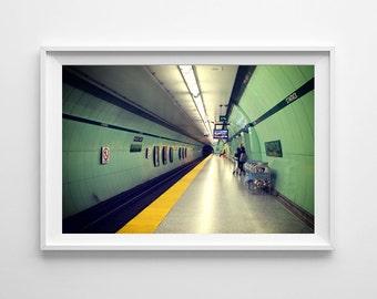 Toronto Art St. Patrick Station Subway Station Photography - Green Art, Street Photography, Urban Art - Small and Oversized Art Prints
