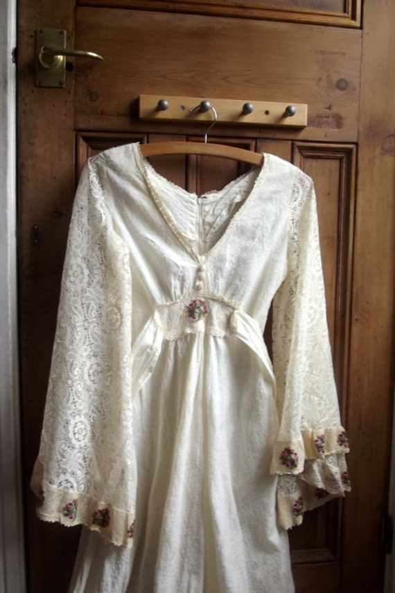 vintage 70s wedding dresses boho dress by dollycalledtopsy