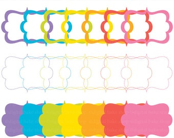 digital frames clipart scalloped circle clip art labels tags - Bright Digital Decorative Frames