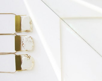 Ivory Howlite Gemstone necklace