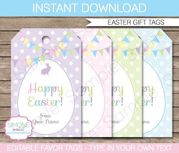 Dynamite image intended for free printable easter gift tags