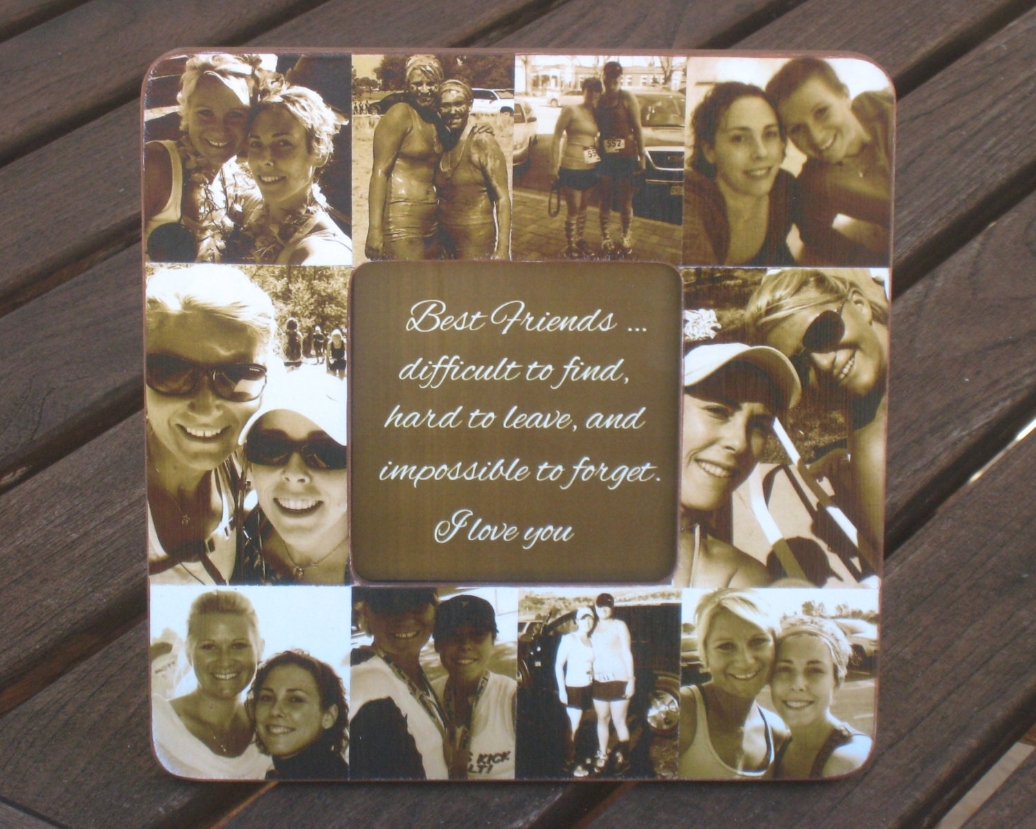 Perfect Wedding Gift For Best Friend: Best Friend Gift Unique Sister Gift Bridesmaid Collage
