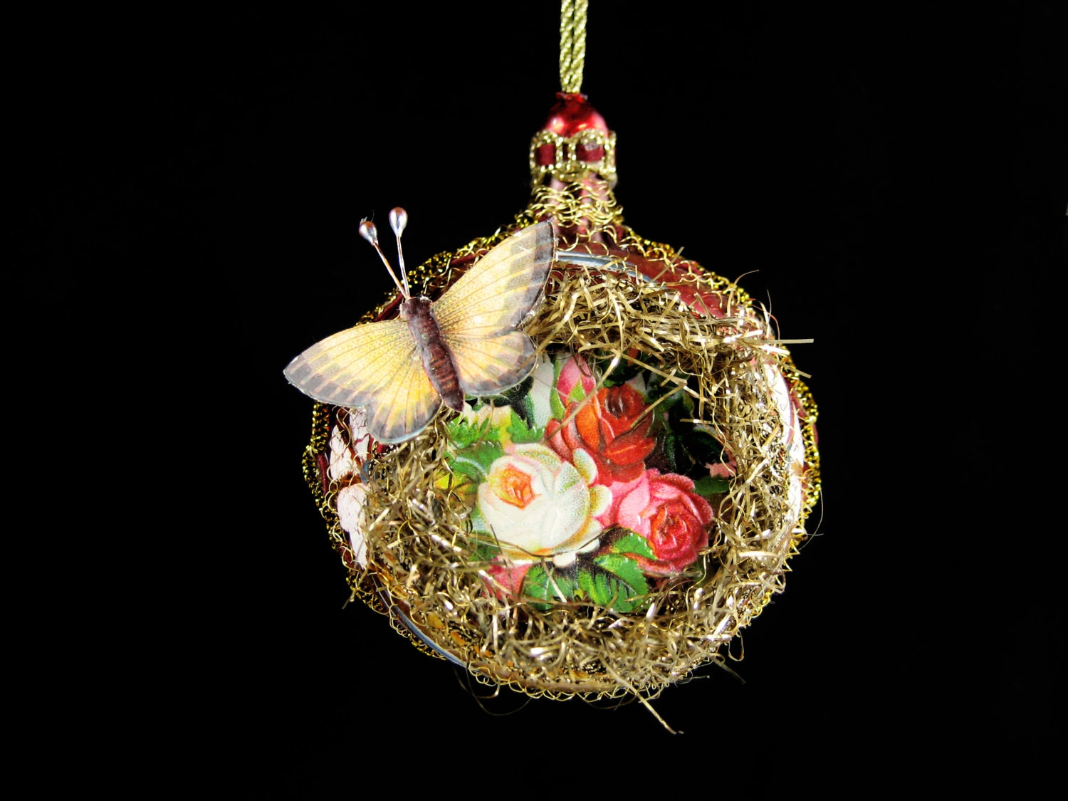 Victorian Christmas Ornament Garden Butterfly Christmas
