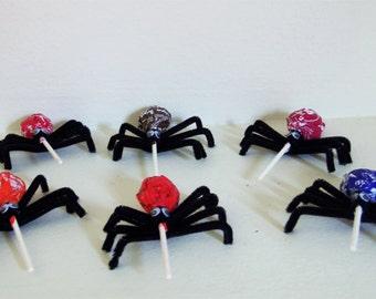 Set of 8 Spider Lollipops - Spider Halloween Lollipops - Halloween Lollipops - Halloween Treats - Halloween Candy - Halloween - Spiders