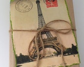 Decorative Book-  Glittery Eiffel Tower Paris French- Vintage Book Stack Collection- Shabby Chic