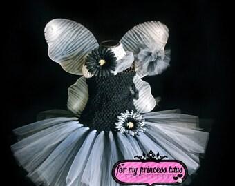 Black and White Zebra Tutu Dress Set - newborn tutu, infant tutu, baby tutu, toddler tutu, tutu costume, pageant tutu, 1st birthday tutu