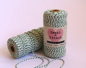 12 ply Bakers Twine GREEN & WHITE 100 metres