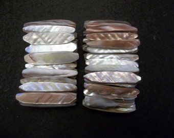 Mother of Pearl Bracelet Iridescent Shell Jewelry