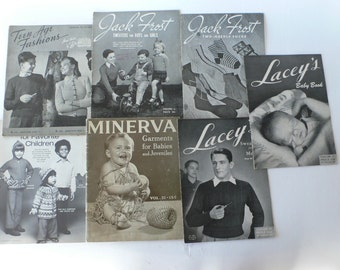 vintage group of knitting books 1930-1970's from Diz Has Neat Stuff