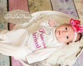 The Princess has arrived - baby shower gift - new baby - princess - little sister -