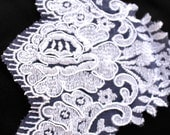 "LACE TRIM, Bridal Lace trim, 5.5"" Bridal Scalloped Edge, Per Yard Fabric by Vegas Veils. Ships Today."