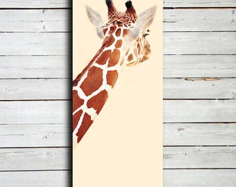 Giraffe - Giraffe art - Giraffe decor - Circus Decor - Zoo decor - Giraffe canvas - Giraffe photography