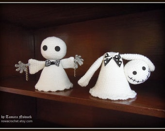 Shock and Shiver the ghosts - amigurumi PDF crochet pattern