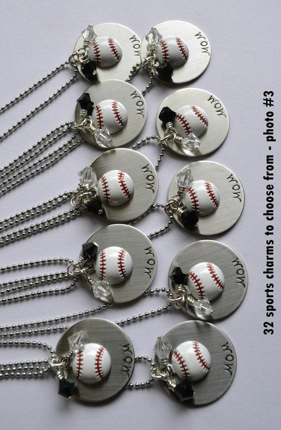 Sports Mom Necklace - Baseball  - Football  - Basketball  - Soccer  - Softball  - Volleyball - Sports necklace