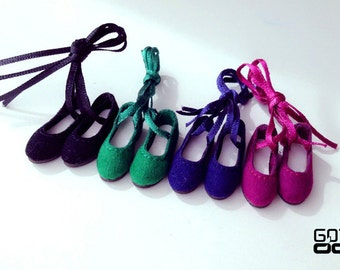 Special Offer 20% OFF - GOTALL doll handmade Velvet Ribbon Ballet shoes for Blythe doll - doll shoes - 4 colors in