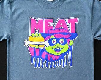 CLOSEOUT - Phish inspired Meat lot tee shirt - Trey, Grateful Dead, hippie, 420, lsd